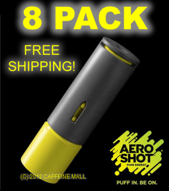 Aero Shot Pure Energy Inhalable Caffeine Shots AeroShot Breathable Inhaler LIME (8 pack)
