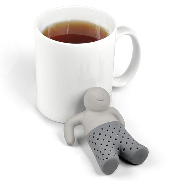 Mr tea infuser next to mug