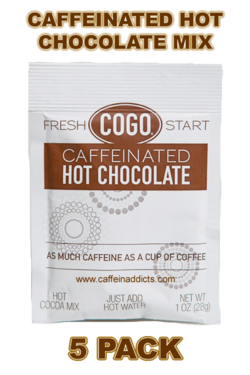 COGO Caffeinated Hot Cocoa Mix - Hot Chocolate with Caffeine (5 packs)