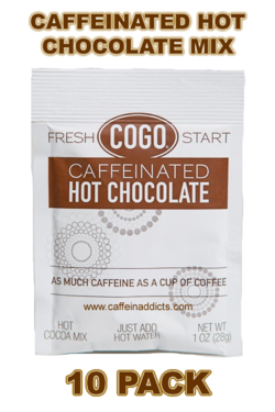 COGO Caffeinated Hot Cocoa Mix - Hot Chocolate with Caffeine (10 packs)