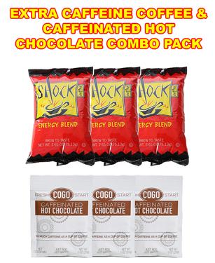 Shock Coffee & COGO Caffeinated Hot Chocolate Cocoa Combo Pack