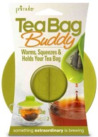 Tea Bag Buddy - Silicone Cup Cover - Keep Hot, Secure, Squeezer & Holder (GREEN)
