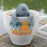 Manatea Tea Infuser - Florida Manatee Sea Cow Loose Leaf Tea Leaves Mug Steeper & Strainer