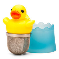 Just Ducky Tea Infuser - Yellow Duck Rubber Duckie Loose Leaf Tea Leaves Steeper & Strainer