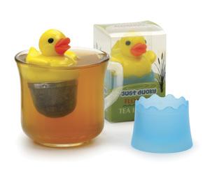 Just Ducky Tea Infuser Yellow Duck Rubber Duckie Loose