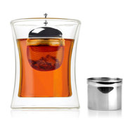 Stainless Steel Floating Tea Infuser - Mesh Ball Loose Leaf Tea Leaves Steeper & Strainer