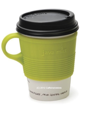 Java Mitt - Silicone Insulated Coffee Tea Cup Holder - Heatproof & Nonslip