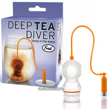 Deep Tea Diver Infuser - Scuba Diving Loose Leaf Tea Leaves Mug Steeper & Strainer