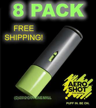 Aero Shot Pure Energy Inhalable Caffeine Shots AeroShot Breathable Inhaler GREEN APPLE (8 pack)