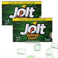 Jolt Spearmint Caffeine Energy Caffeinated Gum - 2 Packs