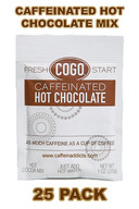 COGO Caffeinated Hot Cocoa Mix - Hot Chocolate with Caffeine (25 packs)