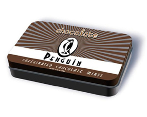 Penguin Chocolate Caffeinated Energy Mints with Caffeine (1 Pack)