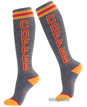 Coffee Socks - Knee High Retro Athletic Tube Socks (Adult Unisex)