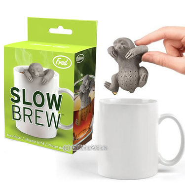 Slow Brew Tea Infuser - Cute Sloth Hanging Loose Leaf Tea Leaves Mug Steeper & Strainer