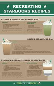 Copycat Starbucks Recipes!