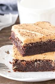 Mocha Brownies With Latte Frosting!