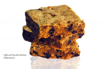 Coffee Chocolate Chip Bars!