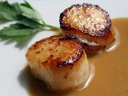 Coffee Seared Scallops!