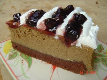 Blueberry Coffee Cheesecake!