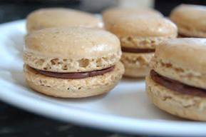Coffee Macaroons With Chocolate Filling!