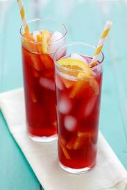 Tangerine Raspberry Iced Tea!