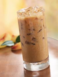 Iced Peaches & Cream Coffee!