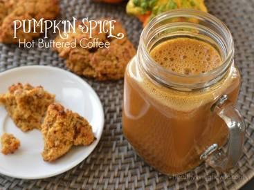 Pumpkin Spice Hot Buttered Coffee!