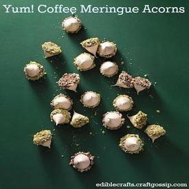 Coffee Meringue Acorns!