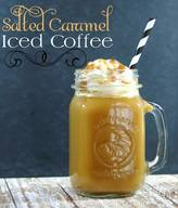 Salted Caramel Iced Coffee!