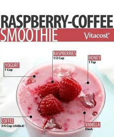 Raspberry Coffee Smoothie!