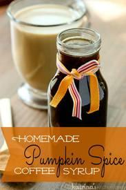 Pumpkin Spice Coffee Syrup!