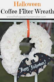 Halloween Coffee Filter Wreath!