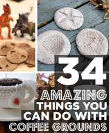 34 Amazing Things To Do With Coffee Grounds!