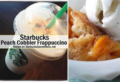 Peach Cobbler Frappuccino!