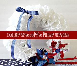 Memorial Day Coffee Filter Wreath!