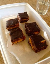 Chocolate Caramel Coffee Bars!