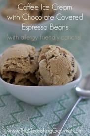Coffee Ice Cream With Chocolate Espresso Beans!
