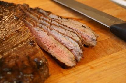 Grilled Coffee Balsamic Flank Steak! I Love Coffee.