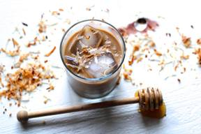 Toasted Coconut Iced Coffee!