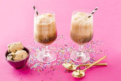 Boozy Espresso Ice Cream Float!