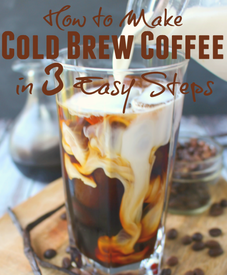 Cold Brew Coffee In 3 Steps!