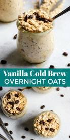 Vanilla Cold Brew Overnight Oats!