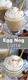 Egg Nog Latte!