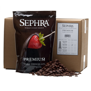 Sephra Premium Dark Chocolate - Fountain Ready Fondue (20lb case)