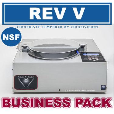 Chocovision Revolation V (Rev V) Commercial Chocolate Tempering Business Pack