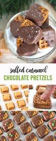 Salted Caramel Chocolate Pretzels!