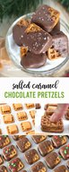 Salted Caramel Chocolate Pretzels!