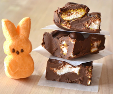 Chocolate Peanut Butter Marshmallow Peeps Fudge!