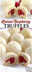 Lemon Raspberry Truffles!