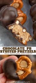 Chocolate Pb Stuffed Pretzels!